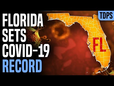 Florida SETS RECORD, 15,000 Cases in ONE DAY
