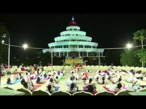 Yoga performance ...Art of Living  International  ashram ,Bangalore
