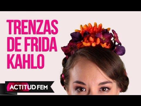 Trenzas estilo frida kahlo peinados f 225 ciles con trenzas youtube