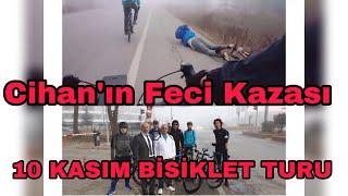 10 Kasım Bisiklet Turu Küçük Çaplı Bisiklet Kazası Simav'a Gidiş