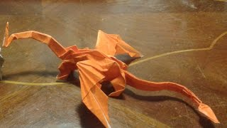 Origami - How to make an origami dragon - intermediate level -