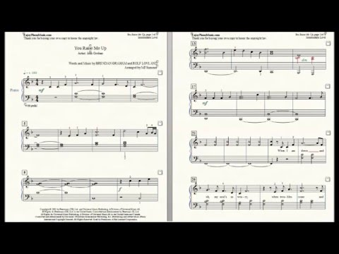 You Raise Me Up Sheet Music For Piano Josh Groban At Intermediate