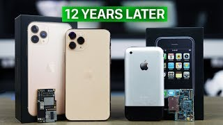 Download iPhone 11 Pro vs First iPhone! 12 Year Comparison Mp3 and Videos