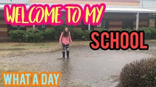 IT'S FLOODING?!   SCHOOL VLOG   VLOGMAS DAY 14