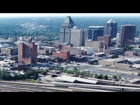 Greensboro, NC - 360 Degree Aerial Panorama of the Downtown Area