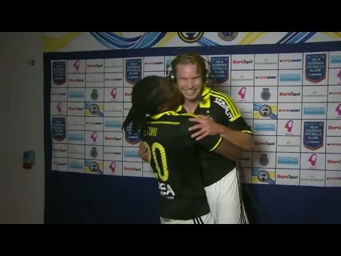 Etuhu kraschar intervjun - kysser Blomberg - TV4 Sport
