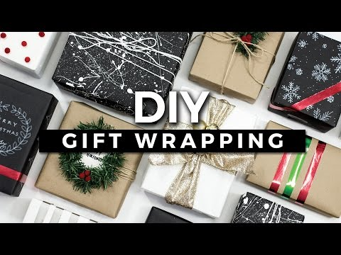 DIY Gift Wrapping Ideas! 10 Creative Ways to Wrap a Present! + GIVEAWAY