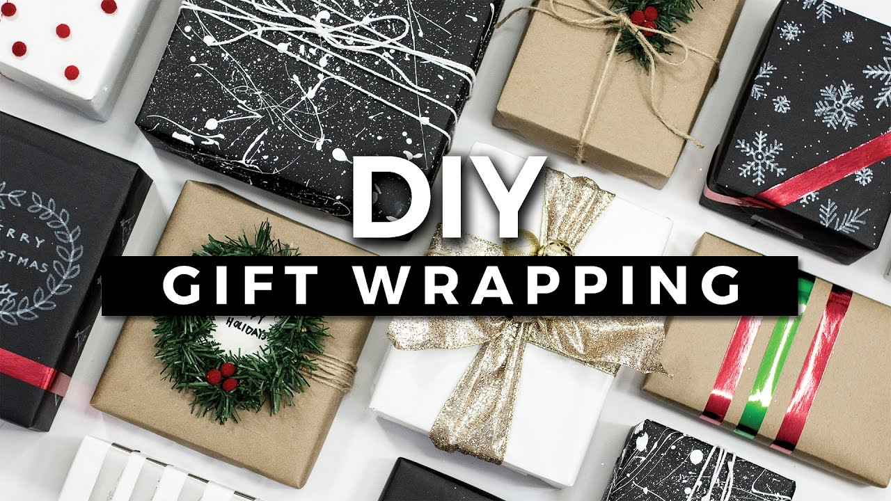 diy gift wrapping ideas 10 creative ways to wrap a present giveaway youtube