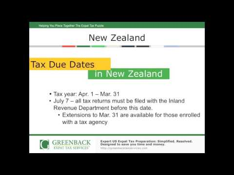Top 7 Things About Expat Taxes in New Zealand