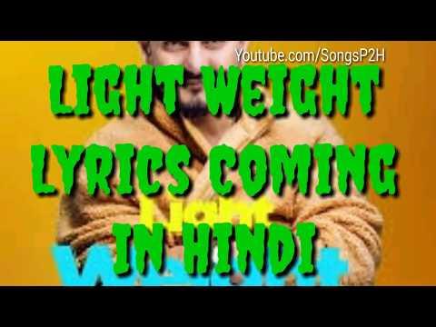 Lightweight Song Lyrics In Hindi Full By Kulwinder Billa||Kulwinder Billa ||Songs Lyrics P2H ||