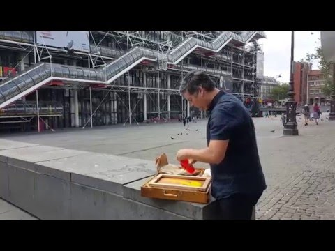 Streetprinting at The Pompidou