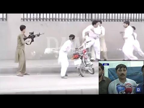 Man brandishes assault rifle, aerial fire in Peshawar