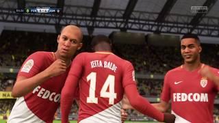 FIFA 18 | FC Nantes vs AS Monaco | France Ligue 1 | Gameplay HD