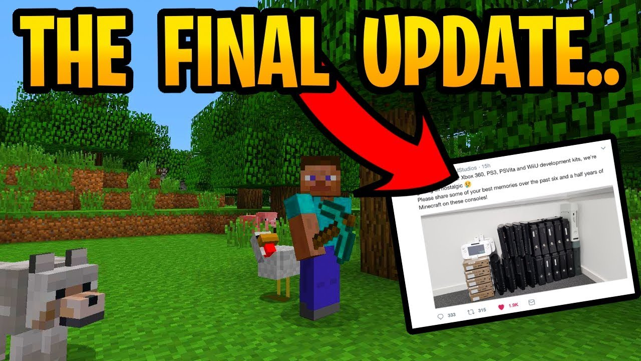 Minecraft Final Update For Old Gen   PS3, PS Vita, Wii U & Xbox 360