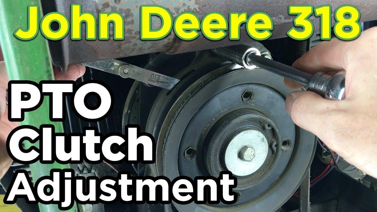 how to john deere 318 pto clutch adjustment [ 1280 x 720 Pixel ]