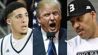Trump Goes Off on Lavar Ball & Liangelo Ball