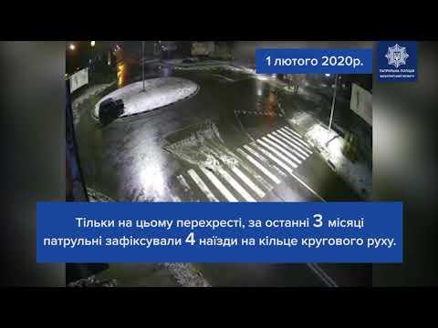 П'яний водій наїхав на клумбу з тюльпанами в Ужгород