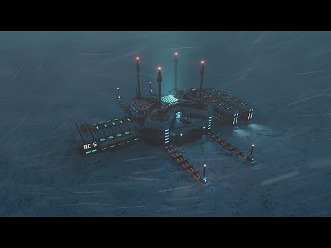 Arctic Research Station | Sci-Fi Ambience | Blizzard & Snowstorm Sounds
