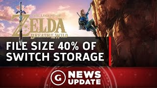 Zelda: Breath of the Wild File Size Is 40% of Switch's Storage