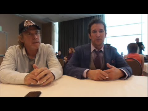SDCC 2014 - Falling Skies Press Room - Will Patton and Noah Wyle
