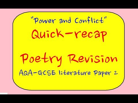 AQA 'Power and Conflict' Poetry Revision Part 1 (GCSE Literature paper 1)