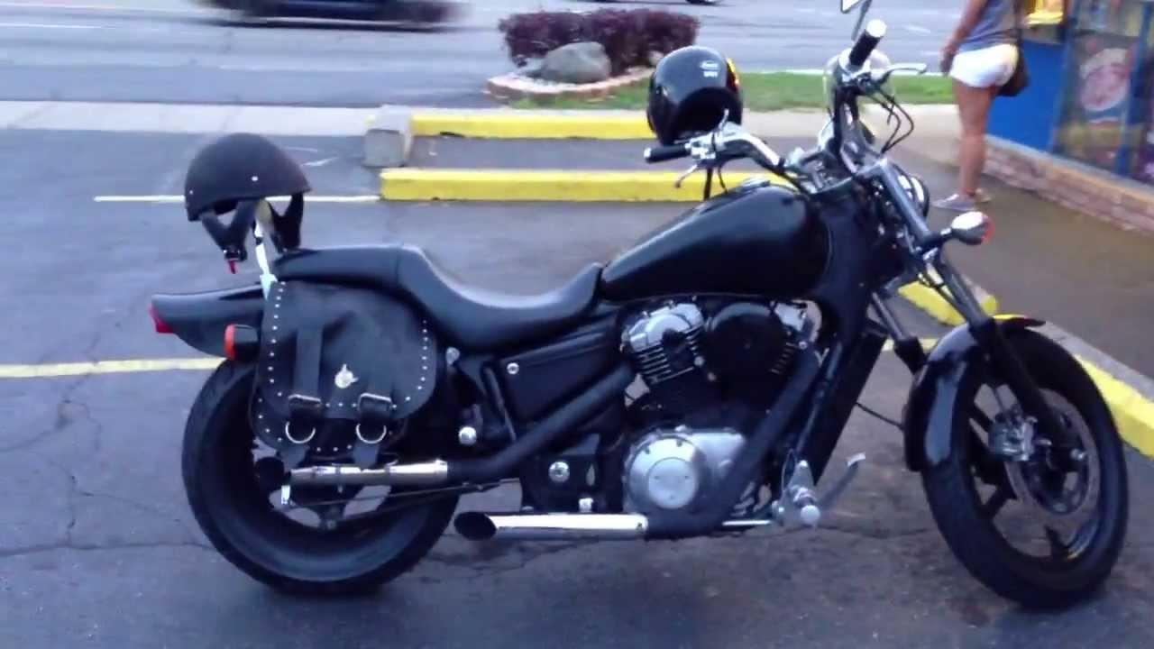1992 Honda Shadow VT 1100 Black on Black - YouTube