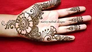 easy cute mehndi henna designs for hands-mehndi designs for begineers step by step