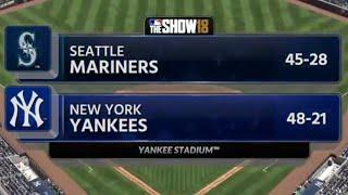 MLB the show 18 - Mariners at Yankees 6/21/18 simulation