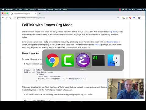 Org-mode And FoilTeX - Emacs Conference 2019
