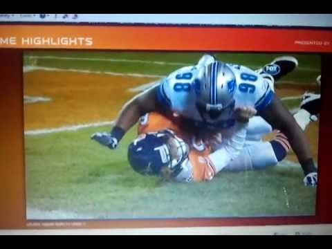 Nick Fairley dirty hit on Jay Cutler