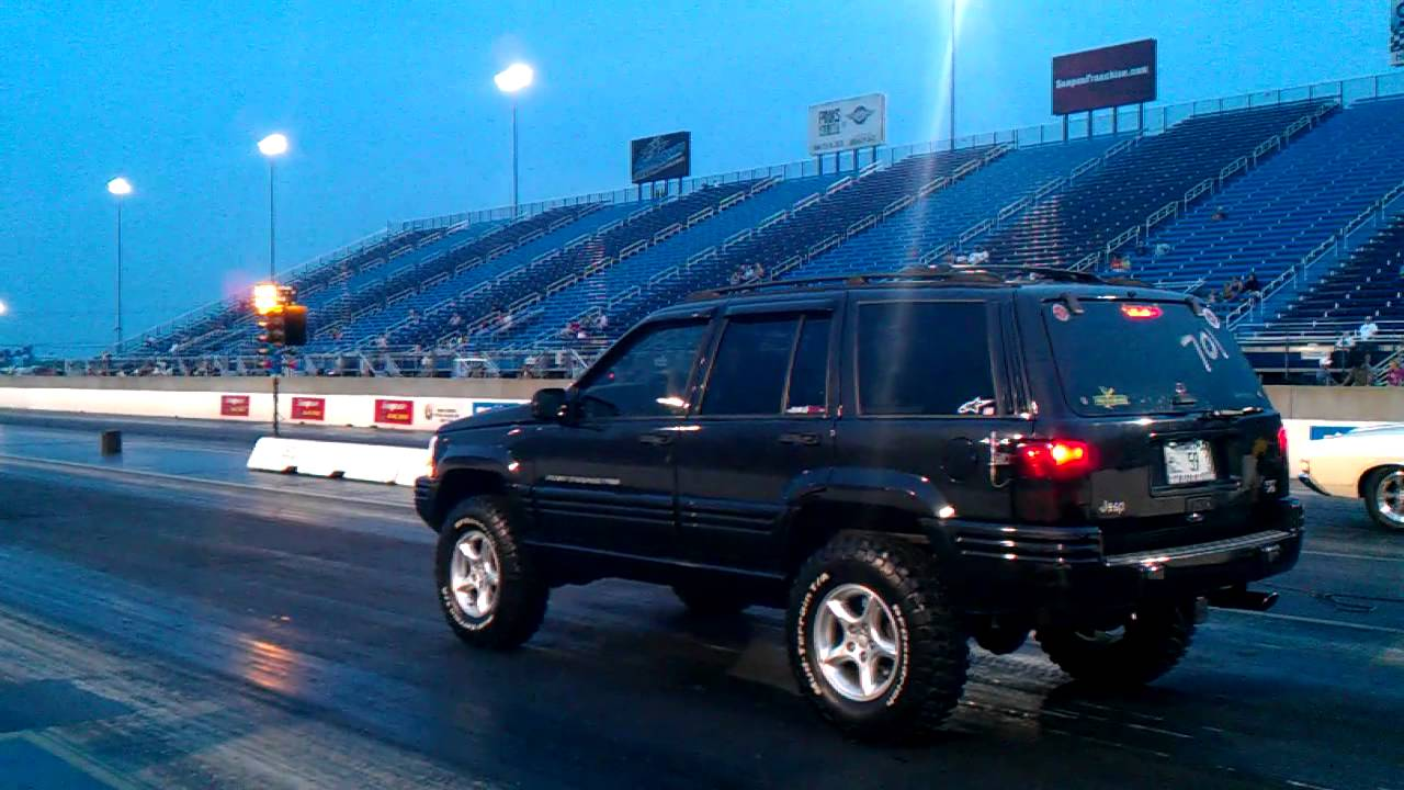 2011 Jeep Grand Cherokee >> 1998 Jeep Grand Cherokee 5.9L Limited 4WD 1/4 Mile - YouTube