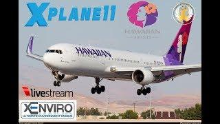 X-Plane 11  B763      VATSIM   KPDX-PHOG-PHKO-PHNL