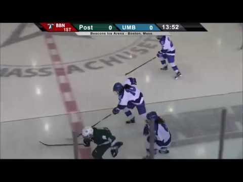 UMass Boston Women's Hockey vs Post University Webcast (1-2-17)