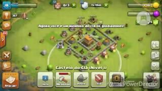 Colocando pra upar o gigante pro level 2-clash of clans