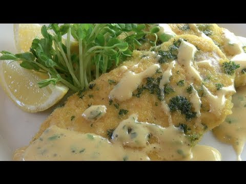 CRUMBED CHICKEN with HERB MAYONNAISE - Nicko's Kitchen