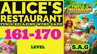 Alice Restaurant Word Game level 161 162 163 164 165 166 167 168 169 170 answer gameplay Full Story screenshot 3