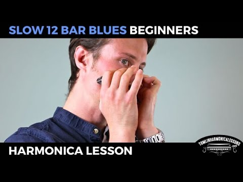 Slow 12 bar blues - Beginner Blues C Harmonica Lesson + free harp tab