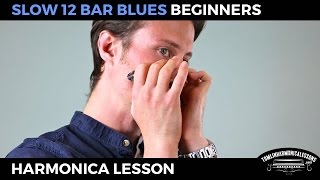 Slow 12 bar blues - Beginner Blues C Harmonica Lesson + free harp tab