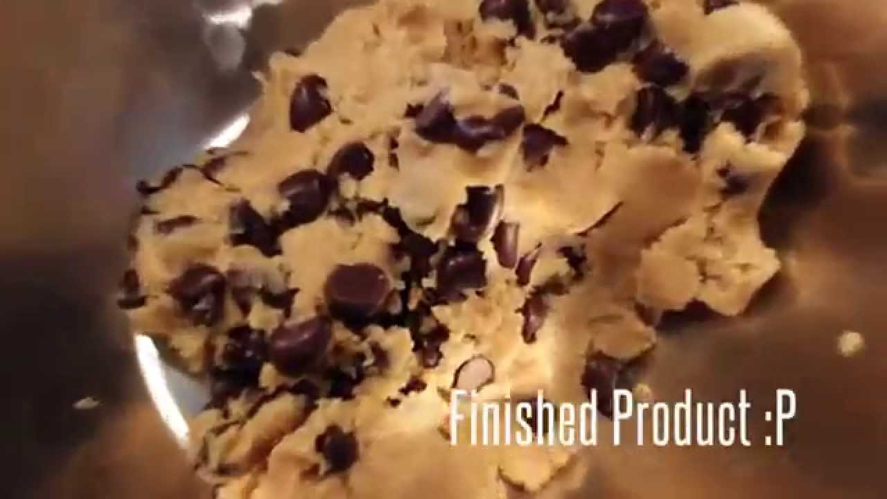 No Egg Chocolate Chip Cookie Dough Recipe - YouTube