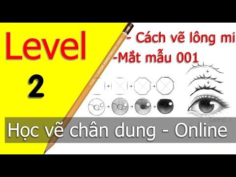 Level 2 Học vẽ chân dung CƠ BẢN chuẩn 100% Cách vẽ lông mi - How to draw eyelashes
