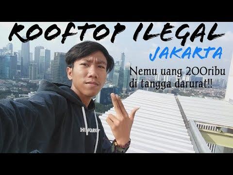 Rooftop Ilegal Jakarta Pancoran || Nemu Uang 200ribu Di Tangga Darurat #vlog01