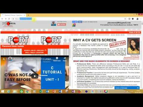 Placement Prokriya Make / create CV in single click