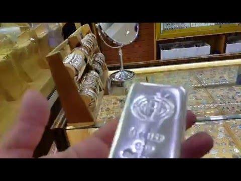 1 kg Silver bar for 495 Euro at Gold Souq Dubai 17.04.2016