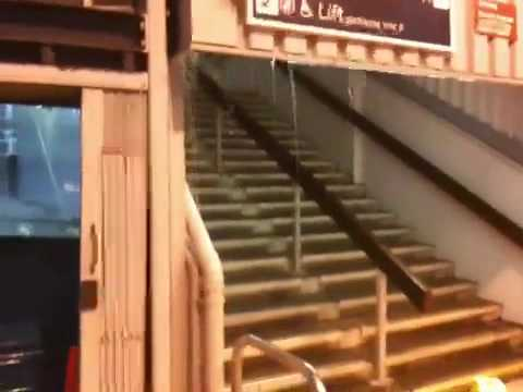 Freak storm @ Dartford train station
