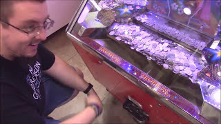 Arcade Coin Pusher Craziness | JJGeneral1 | Joshua Bartley | TeamCC Claw Council