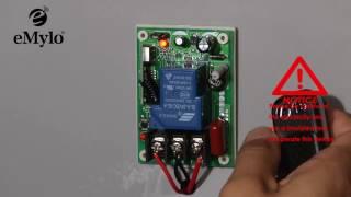 eMylo AC 220V 1CH 2500W remote control switch wireless RF relay transmitter receiver 433mhz