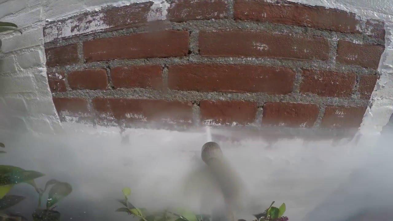 Stenen Muur Verven : Professioneel muurverf verwijderen van bak stenen