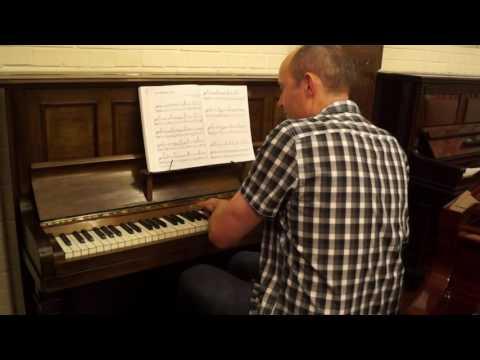 Schiedmeyer upright piano, antique. For sale, Edinburgh.