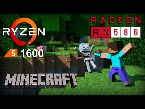 RX 580 + Ryzen 1600 in Minecraft
