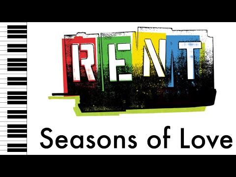 Seasons Of Love - RENT - Piano Accompaniment/Rehearsal Track